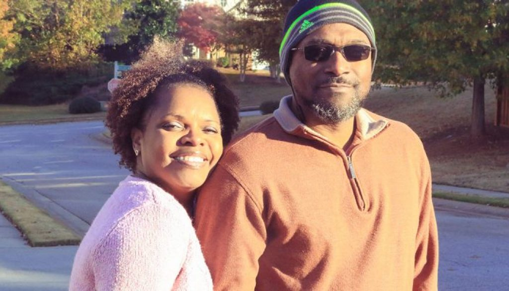 my hubby is my jesus - picture of blogger and her husband